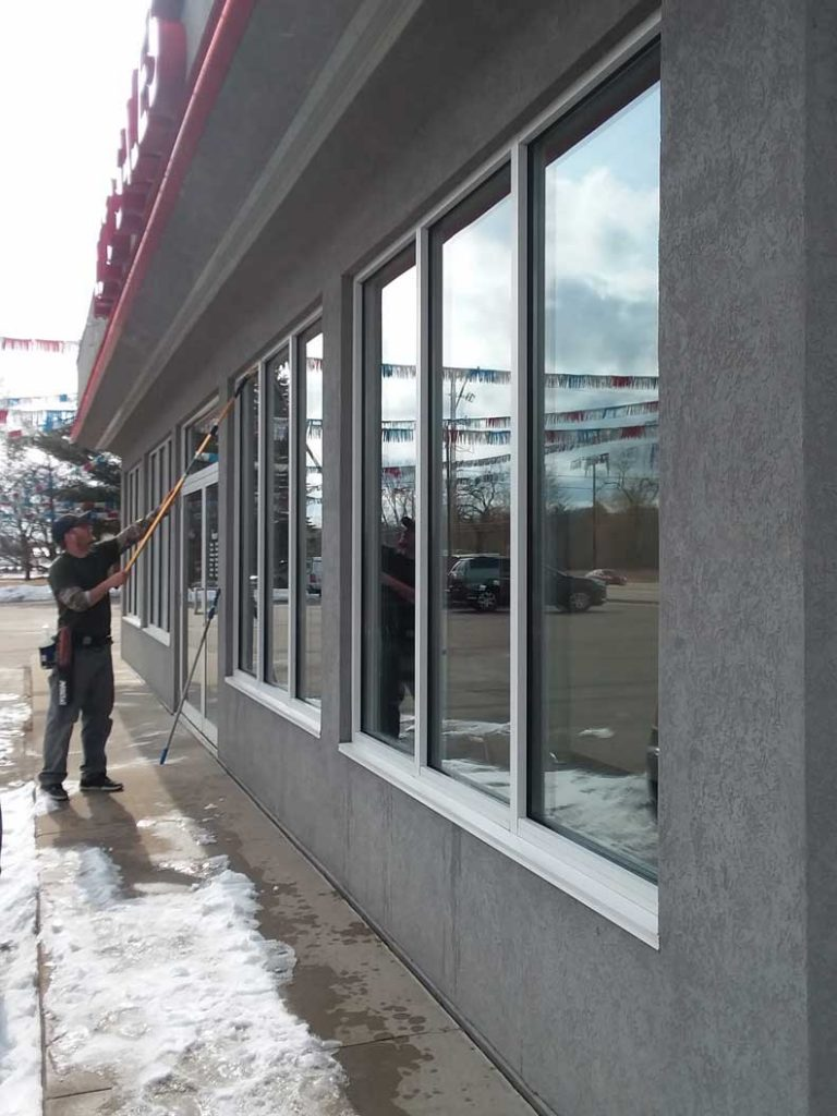 Commercial Storefront Window Washing